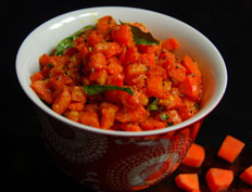 Carrot Curry with Sesame Seeds – Carrot Nuvvula Podem Kura