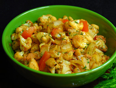 Cauliflower Curry with Dill