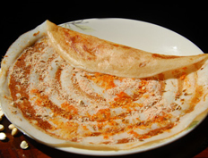 Dosa with Roasted Gram Powder
