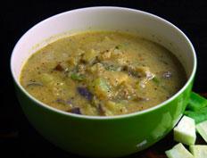 Eggplant Ridge Gourd Curry