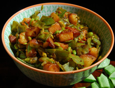 Flat Beans Potato Curry – Chikkudukaya Vepudu.