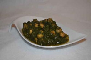Spinach Curry with Channas