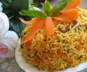 Carrot Capsicum Rice Recipe