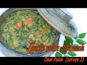 Dal with Spinach