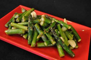 Garlic Asparagus, A Vegetarian Side