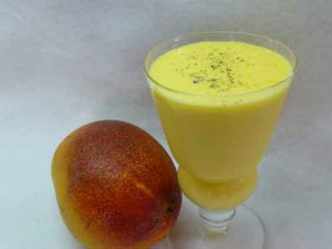Mango Flavored Lassi (Yogurt) Drink Recipe