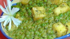 Muttar Paneer (Green Peas w/Paneer) – Indian Recipe