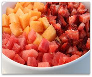 Strawberry Melon Salad Recipe