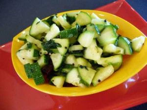 Zucchini with Cilantro and Lime