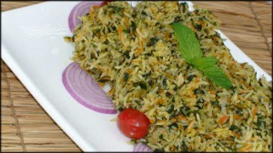 Spinach & Carrots Pullao