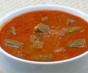 Bendakaya Pulusu Okra in Tamarind Gravy Recipe