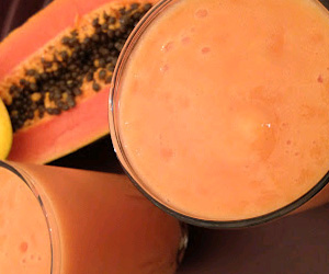 Mango Papaya Milkshake Recipe