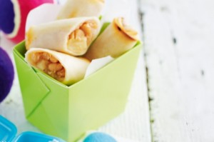Beany spring rolls