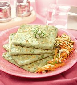 Stuffed Makai Palak Parathas