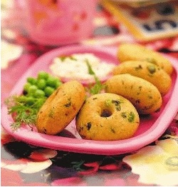 Cabbage Vadas ( Tiffin Treats for Kids )