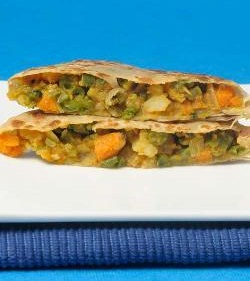 Stuffed Curry Parathas
