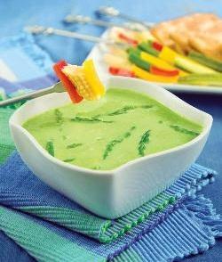 Asparagus Fondue with Cream Crackers ( Diabetic Recipe )