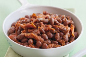 Baked beans with ham
