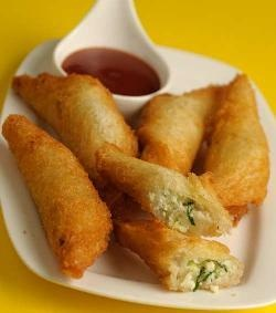 Cabbage and Paneer Rolls