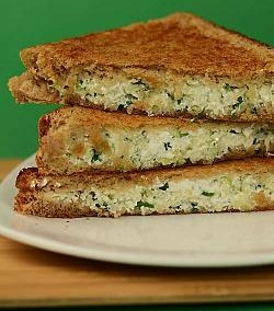 Cabbage and Paneer Sandwich