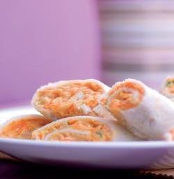 Carrot Pinwheels ( Finger Foods For Kids )