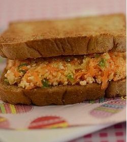 Carrot and Cheese Sandwich