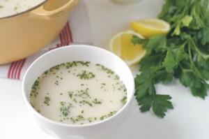 Greek lemon soup (Avgolemono)