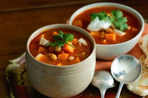 Indian-spiced chicken soup