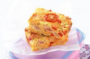 Ham and vegetable slice
