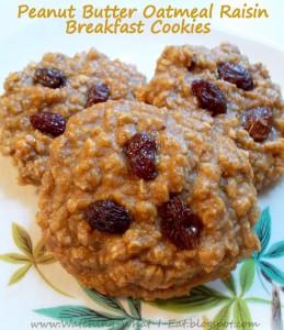 Peanut and raisin cookie