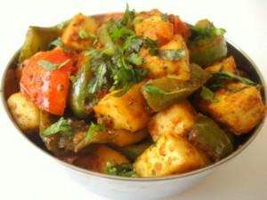 Paneer Capsicum or Paneer Shimla Mirch
