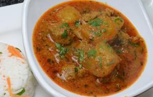 Cucumber Mutton Curry