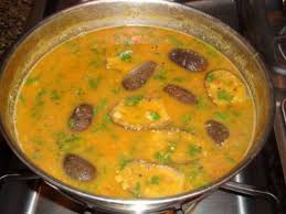 Dal with eggplant