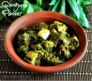 Saag Paneer with Sour Greens Gongura Paneer Curry