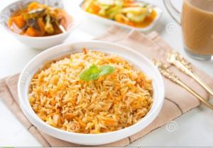 Curry biryani