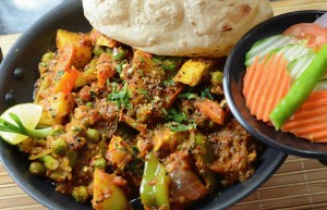 Sesame Kadai Mix Vegetable Curry