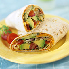 Healthy Vegetable Wrap