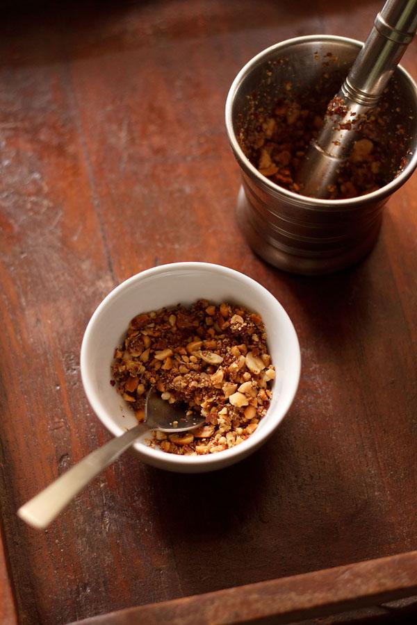 peanut thecha recipe