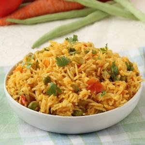 easy vegetable pulao in pressure cooker
