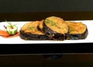 Paneer Stuffed Brinjals/ Eggplants