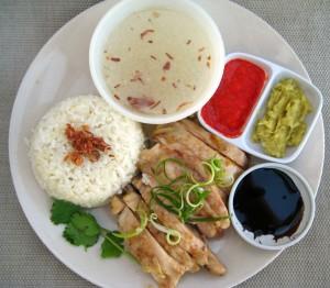 Singapore chicken rice (Hainnaise chicken)