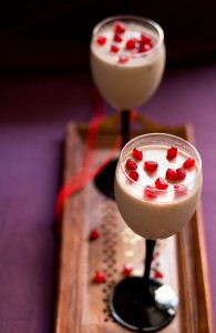 Eggless pomegranate mousse recipe