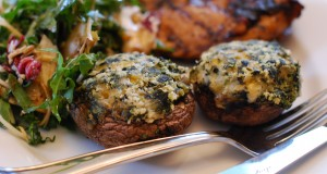 STUFFED MUSHROOM IN CORN AND SPINACH CHEESE