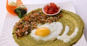 Green gram egg dosa