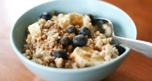 Blueberry and Banana Steel Cut Oats