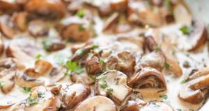 Yoghurt Sauted Mushrooms