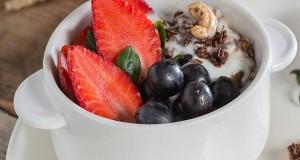 Strawberry and Black Grape Raita