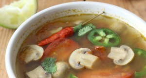Tom Yum Soup with Mushrooms and Baby Corn